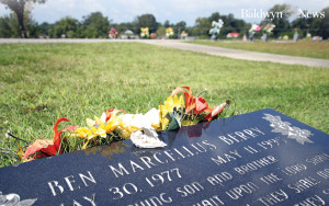 The headstone of Ben Berry's gravesite in the Red Bay (Ala.) cemetery is seen here on a sunny day in September 2015. (News photo/Jason Collum)